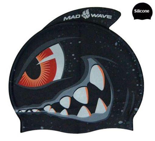 BKJR Silikon Badekappe Shark
