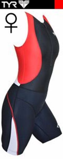 3TED TYR Female TriSuit BK-RD