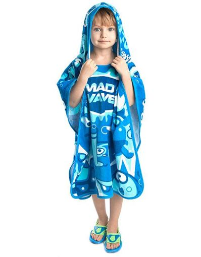 ZRHB Baby Poncho Towel Blue